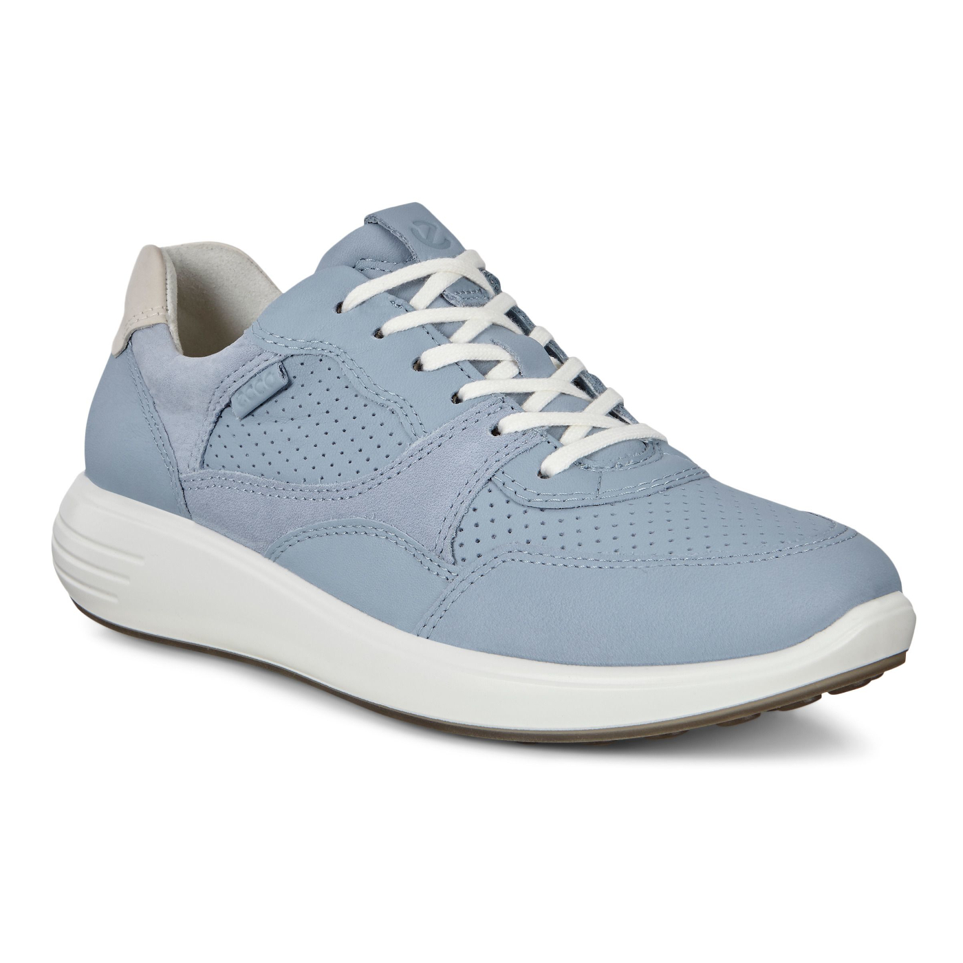 Ecco Ladies Soft 7 Runner - Dusty Blue/Shadow White