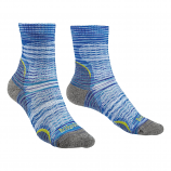 Bridgedale Ultra Light T2 Ladies Lightweight 3/4 Crew Fit Socks - Blue/Multi 131